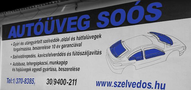 Autóüveg Soós