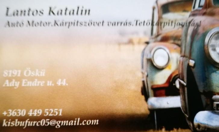 Kárpitszövet varrás, Autó és motor ülés szövetek varrása - Lantos Katalin