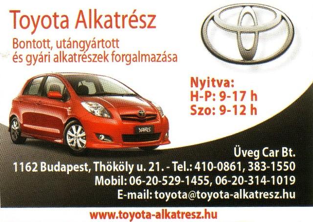 TOYOTA Alkatrész Budapest - Üveg-Car Bt.